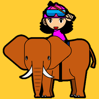 ゾウに乗る騎手のアイコン(16)画像7