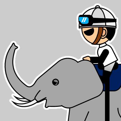 ゾウに乗る騎手のアイコン(17)画像