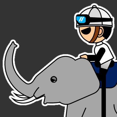 ゾウに乗る騎手のアイコン(17)画像2