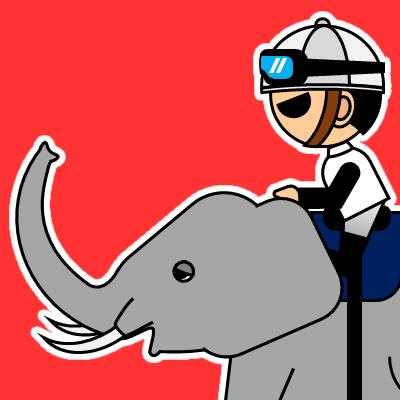 ゾウに乗る騎手のアイコン(17)画像3