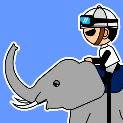 ゾウに乗る騎手のアイコン(17)画像4
