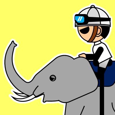 ゾウに乗る騎手のアイコン(17)画像5