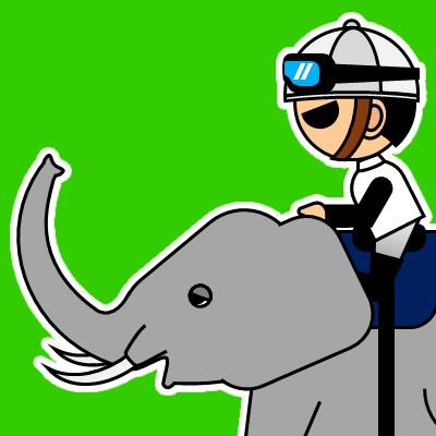 ゾウに乗る騎手のアイコン(17)画像6