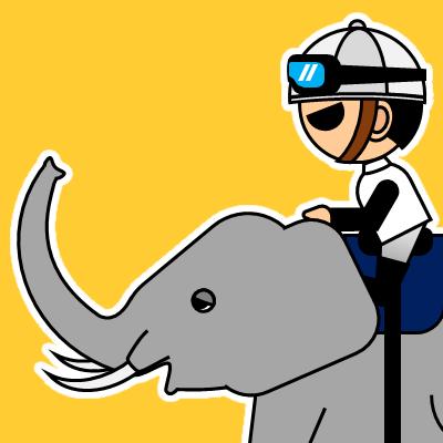 ゾウに乗る騎手のアイコン(17)画像7