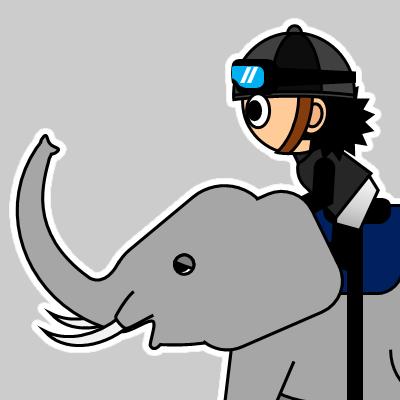 ゾウに乗る騎手のアイコン(18)画像