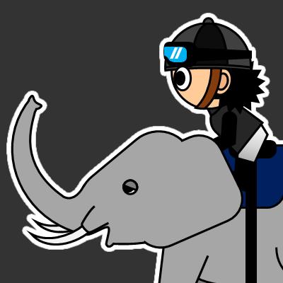 ゾウに乗る騎手のアイコン(18)画像2