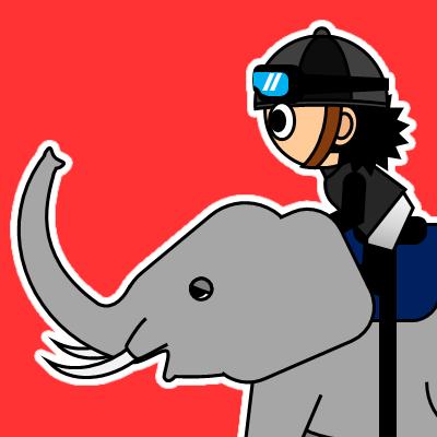 ゾウに乗る騎手のアイコン(18)画像3