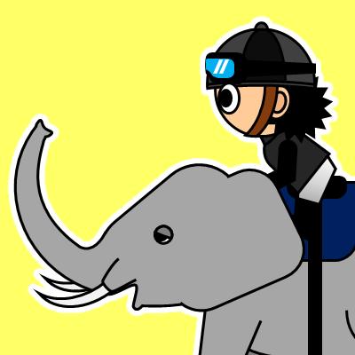 ゾウに乗る騎手のアイコン(18)画像5
