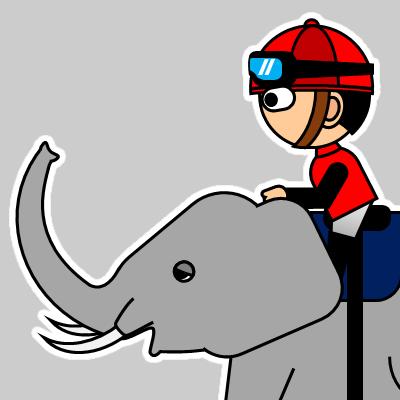 ゾウに乗る騎手のアイコン(19)画像