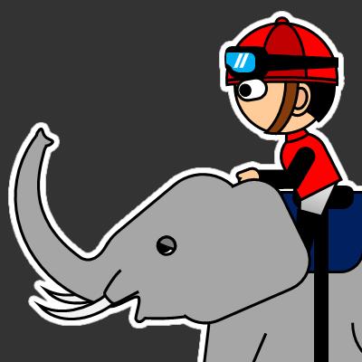 ゾウに乗る騎手のアイコン(19)画像2