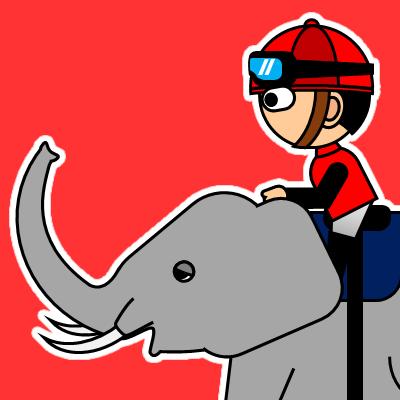 ゾウに乗る騎手のアイコン(19)画像3