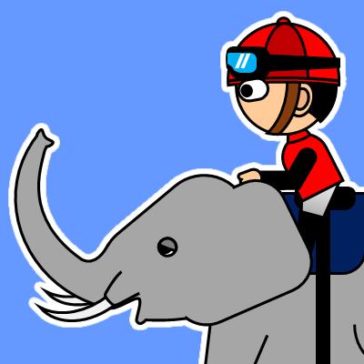 ゾウに乗る騎手のアイコン(19)画像4