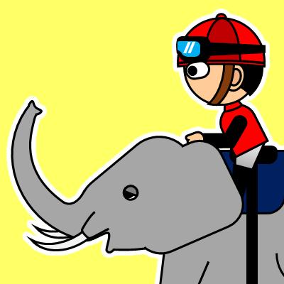 ゾウに乗る騎手のアイコン(19)画像5