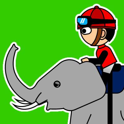 ゾウに乗る騎手のアイコン(19)画像6