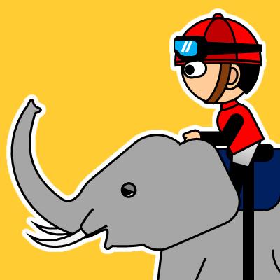 ゾウに乗る騎手のアイコン(19)画像7