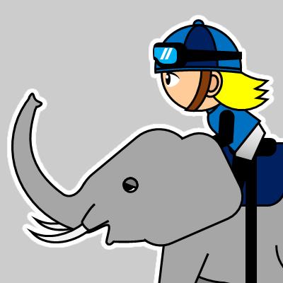 ゾウに乗る騎手のアイコン(20)画像