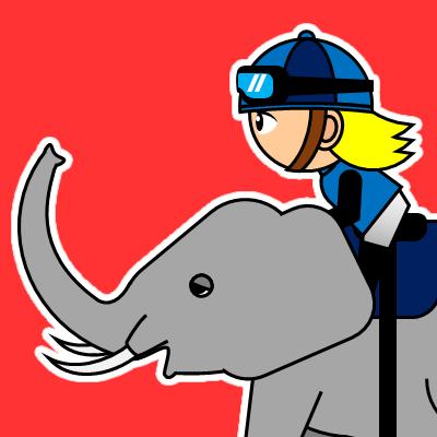 ゾウに乗る騎手のアイコン(20)画像3