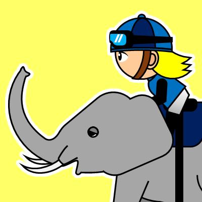 ゾウに乗る騎手のアイコン(20)画像5