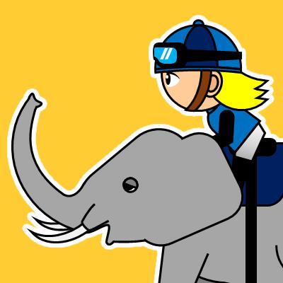 ゾウに乗る騎手のアイコン(20)画像7