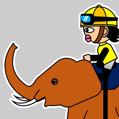 ゾウに乗る騎手のアイコン(21)画像