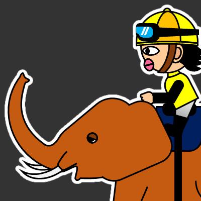 ゾウに乗る騎手のアイコン(21)画像2