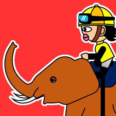 ゾウに乗る騎手のアイコン(21)画像3