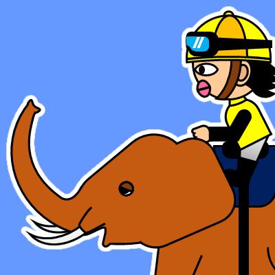 ゾウに乗る騎手のアイコン(21)画像4