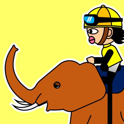ゾウに乗る騎手のアイコン(21)画像5