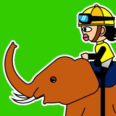 ゾウに乗る騎手のアイコン(21)画像6