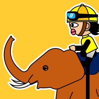 ゾウに乗る騎手のアイコン(21)画像7