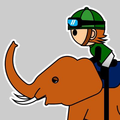 ゾウに乗る騎手のアイコン(22)画像