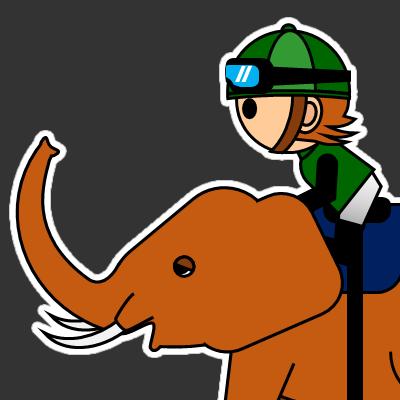 ゾウに乗る騎手のアイコン(22)画像2