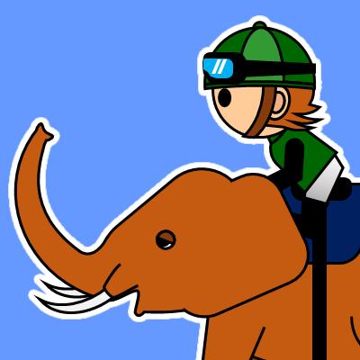 ゾウに乗る騎手のアイコン(22)画像4