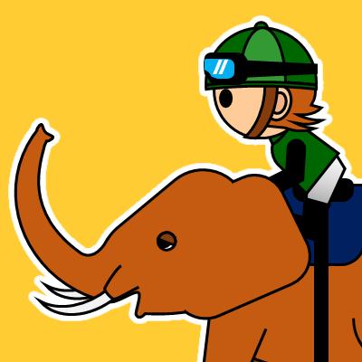 ゾウに乗る騎手のアイコン(22)画像7
