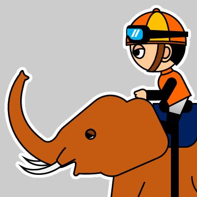 ゾウに乗る騎手のアイコン(23)画像
