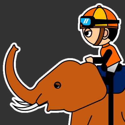 ゾウに乗る騎手のアイコン(23)画像2
