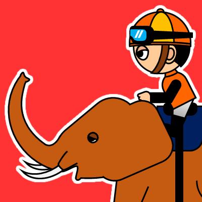 ゾウに乗る騎手のアイコン(23)画像3