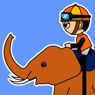 ゾウに乗る騎手のアイコン(23)画像4