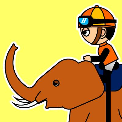ゾウに乗る騎手のアイコン(23)画像5