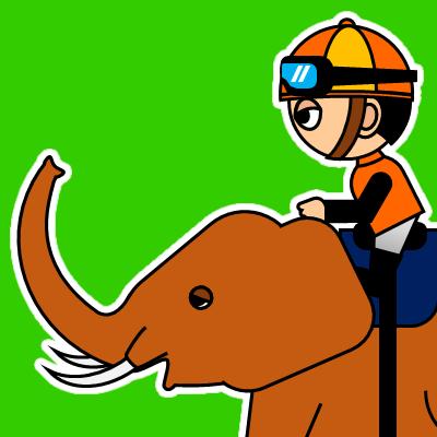 ゾウに乗る騎手のアイコン(23)画像6