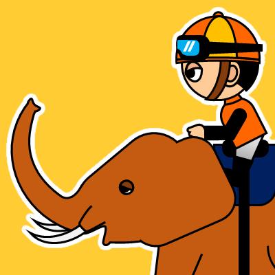 ゾウに乗る騎手のアイコン(23)画像7
