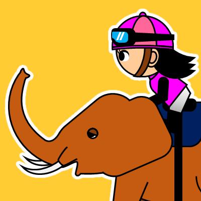 ゾウに乗る騎手のアイコン(24)画像7