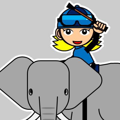 ゾウに乗る騎手のアイコン(28)画像