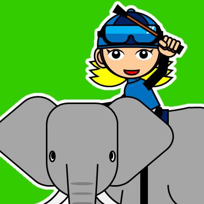 ゾウに乗る騎手のアイコン(28)画像6