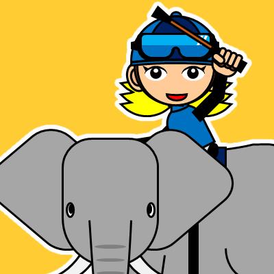 ゾウに乗る騎手のアイコン(28)画像7