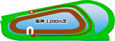 阪神1200m芝コース画像