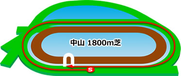中山1800m芝コース画像
