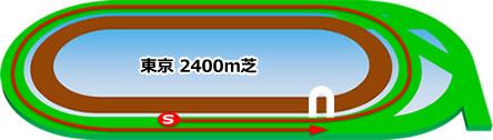 東京2400m芝コース画像
