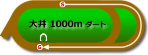 大井競馬場1000mコース画像